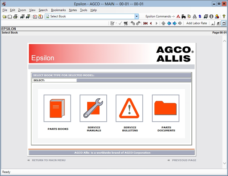 <b>AGCO ALLIS [05/2018]</b><br>Parts catalog and service manuals for AGCO ALLIS agricultural machines