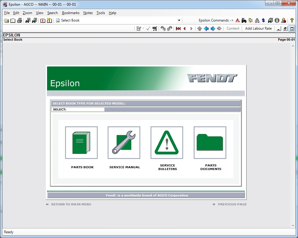 <b>FENDT USA / PARTS CATALOG AND MANUALS [01/2020]</b><br>Parts catalog and manuals for Fendt North America