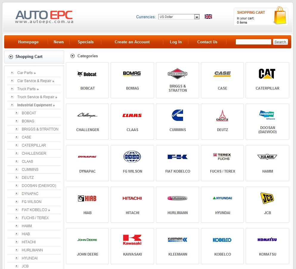 parts catalog service manuals industrial agricultural