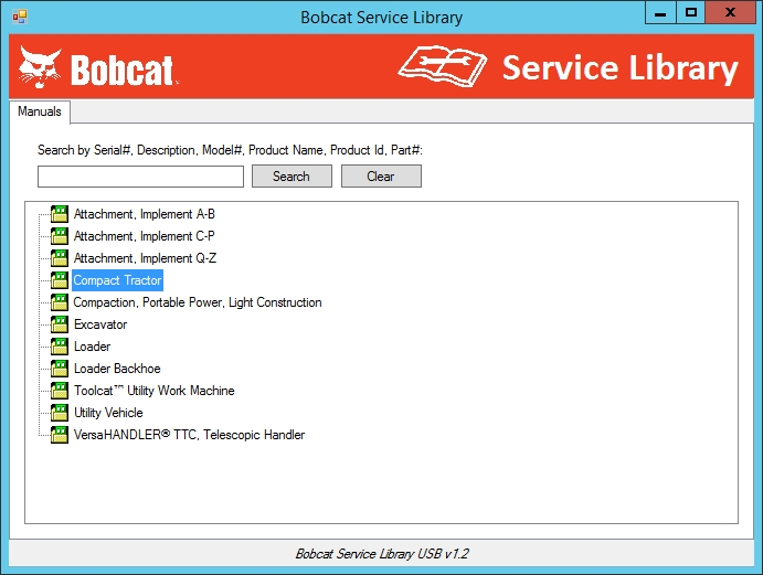 <b>Bobcat Service Library [08/2014]</b><br>operator's and maintenance manuals, service manuals, diagrams, etc.