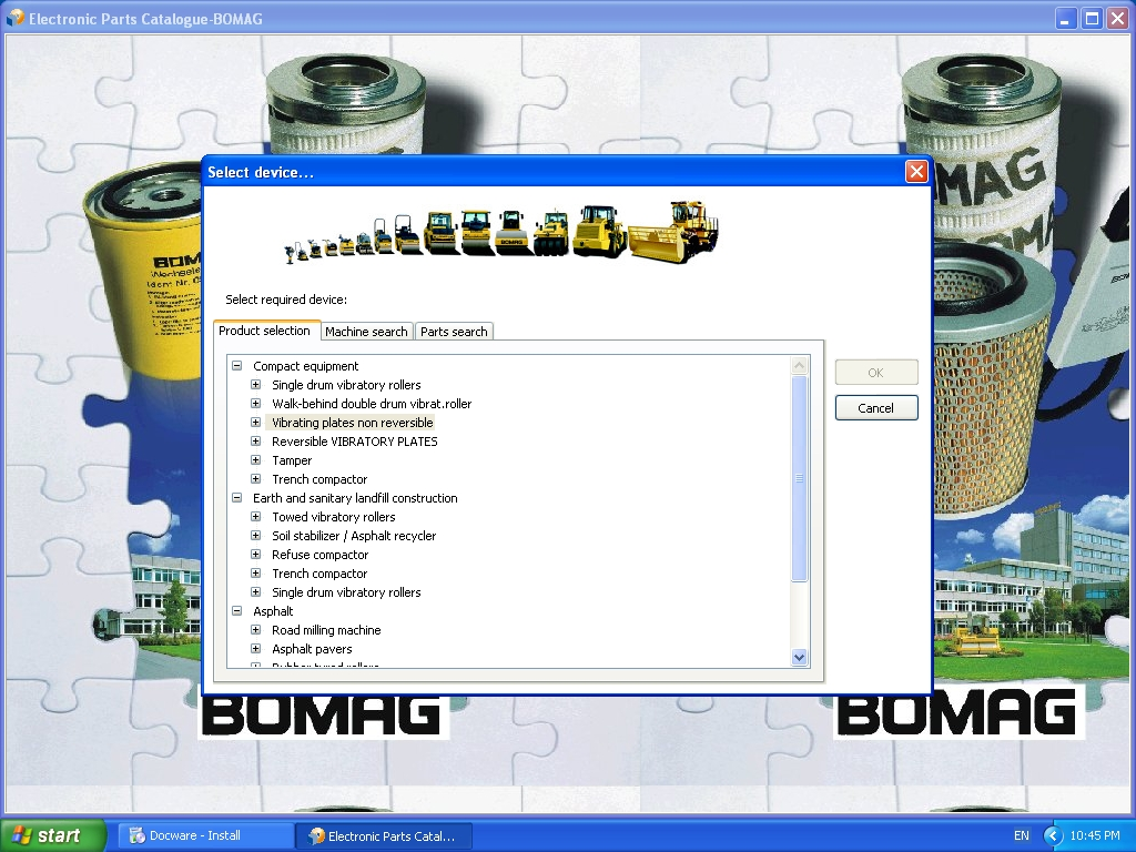 <b>Bomag 2010</b><br>Parts catalog and documantation for Bomag equipment