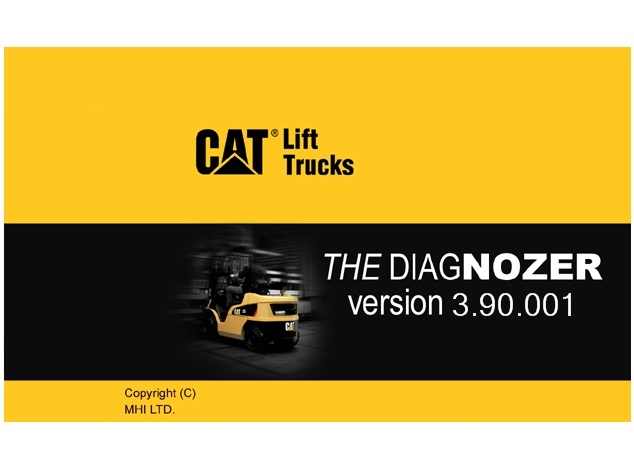 <b>CATERPILLAR LIFT TRUCKS DIAGNOSTIC KIT / THE DIAGNOZER</b><br>12-pin diagnostic cable and The Diagnozer software 4.04