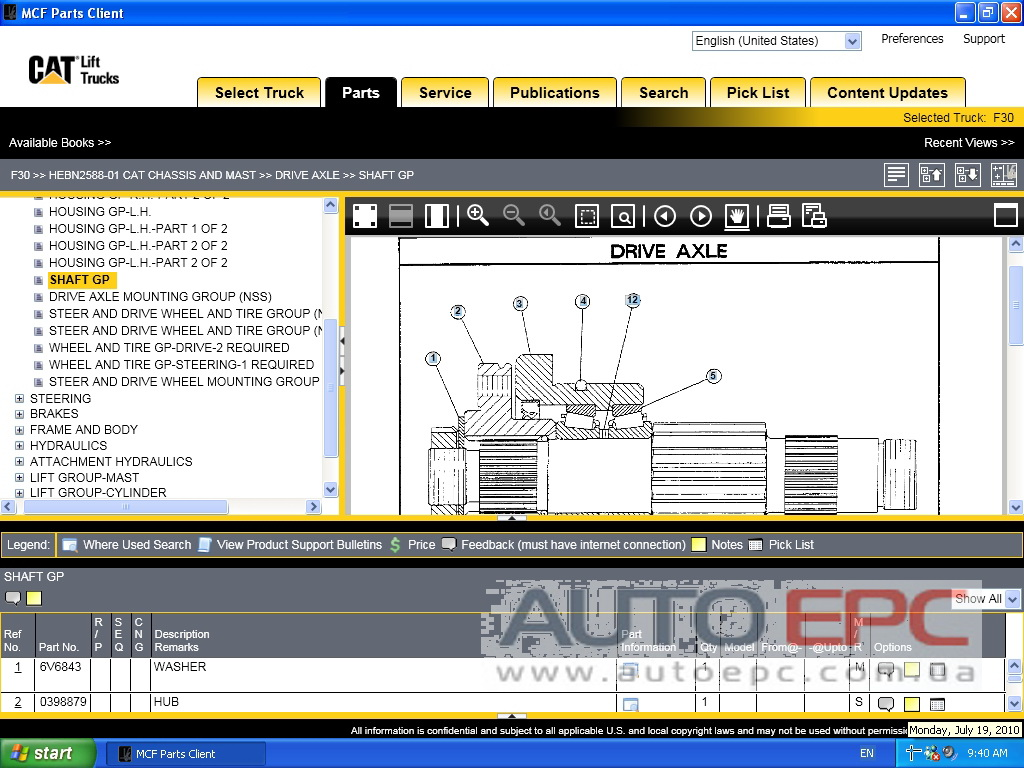 <b>Caterpillar Forklift MCFA + PUBLICATIONS [07/2018]</b><br>Electronic parts catalog for CAT Lift Trucks