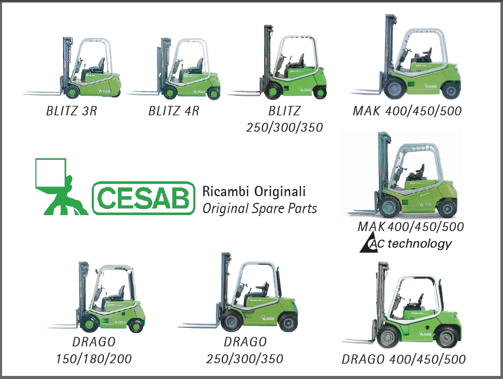 <b>Cesab</b><br>Parts catalog for Cesab forklifts