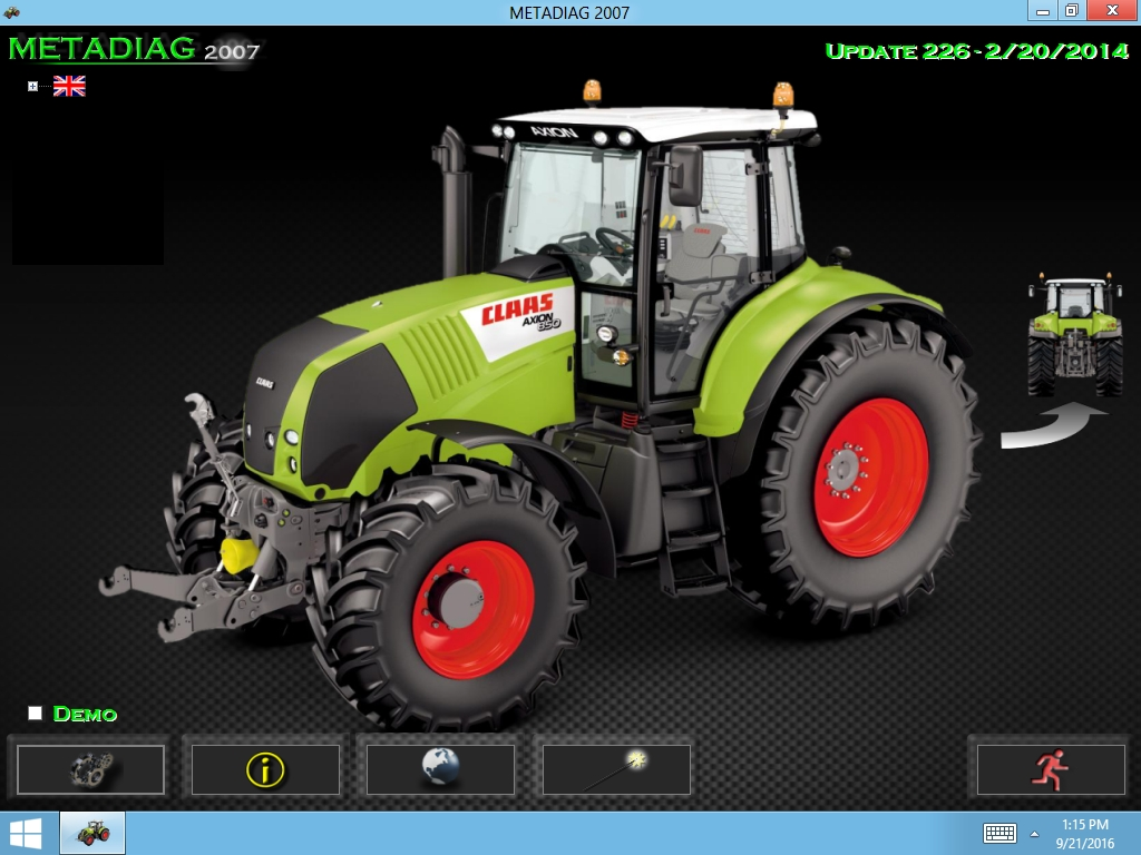 <b>Claas METADIAG 2007</b><br>Diagnostic software for Claas machines and equipment