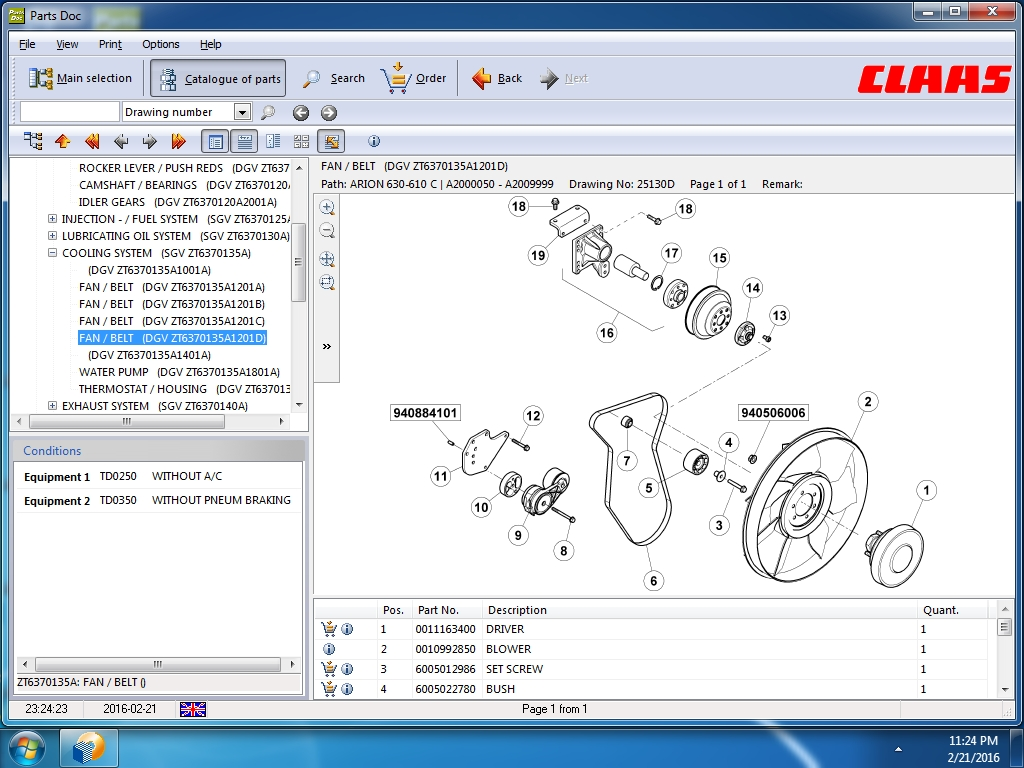 <b>Claas Parts Doc 2020</b><br>Spare parts catalog for CLAAS Combines, Claas Harvest technics and etc.