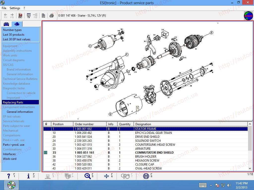 <b>Bosch ESI[Tronic] 2013/3 FULL 8DVD</b><br>Parts catalog, service information and wiring diagrams