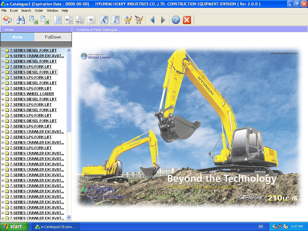<b>Hyundai Construction Equipment / Forklift [01/2011]</b><br>Parts catalog for Hyundai excavators, loaders, forklifts, etc.