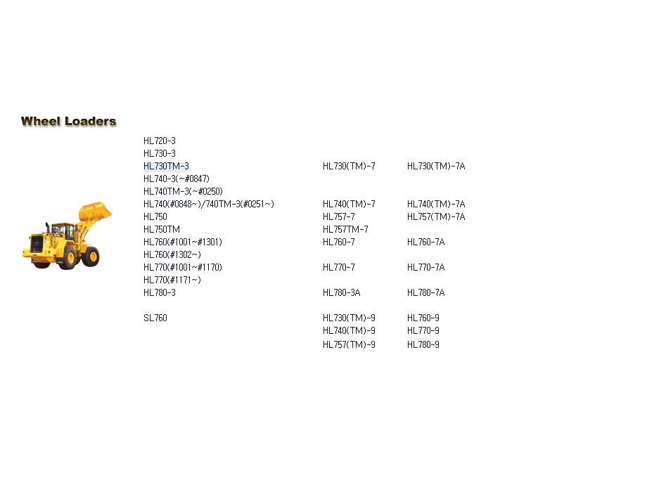 <b>Hyundai Wheel Loaders Service Manuals</b><br>Service Manuals, wiring and hydraulic diagrams