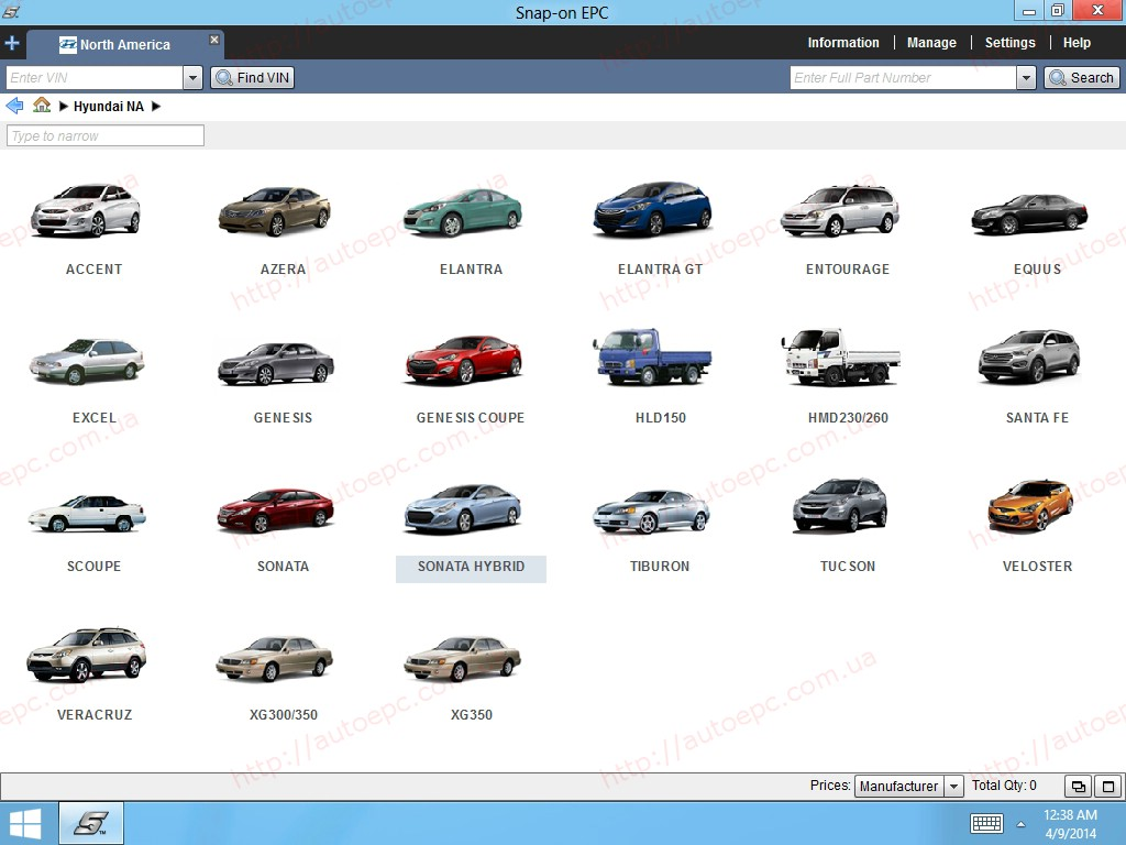 <b>HYUNDAI USA/CANADA SNAP-ON [05/2020]</b><br>Cars & trucks, parts catalog for USA Hyundai models