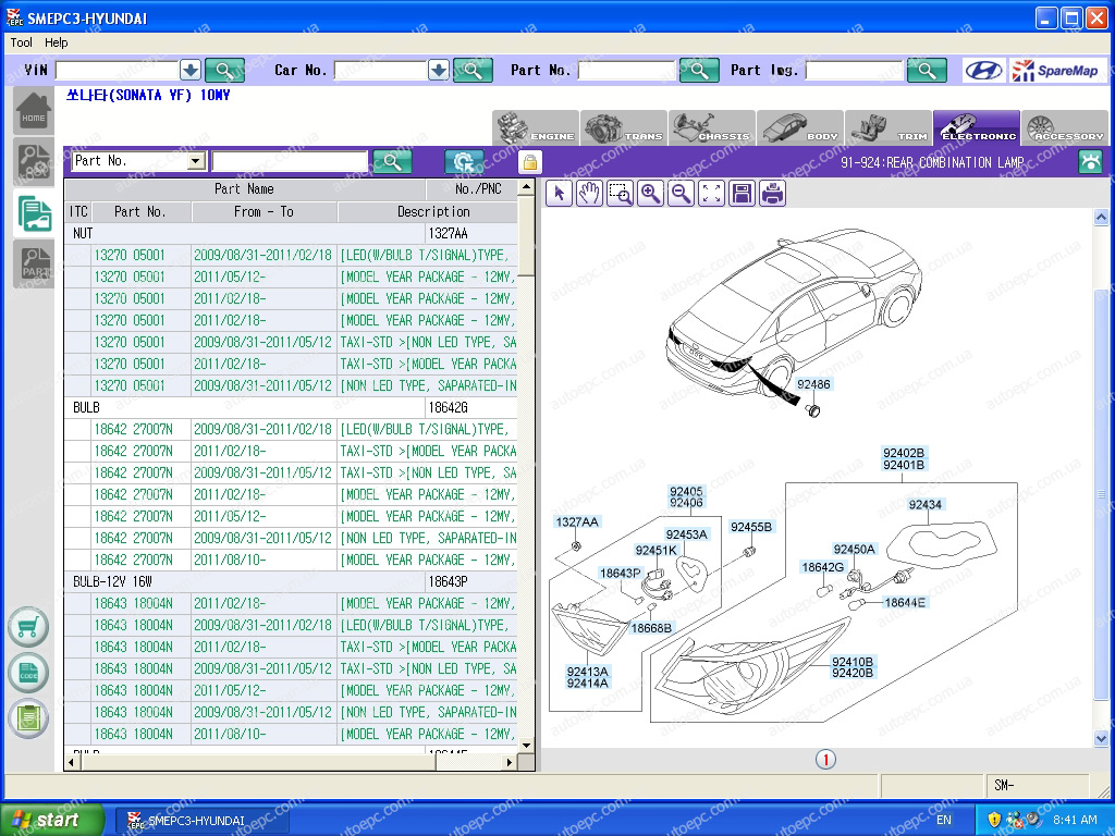 <b>Hyundai & Kia Korea [02/2020]</b><br>SpareMap, parts catalog for Hyundai domestic models