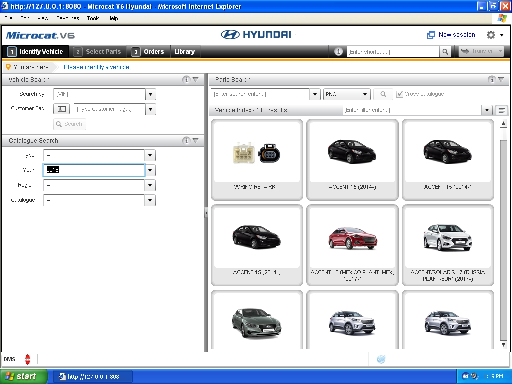 <b>HYUNDAI MCAT V6 [08/2018] <sup><font color=red>new interface</font></sup></b><br>Cars & trucks & bus, parts catalog. VMWare.