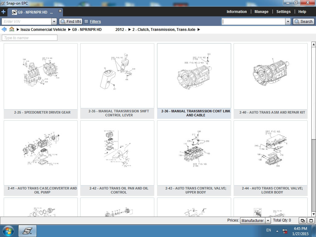 <b>Isuzu Commercial Vehicles [07/2018]</b><br>Parts catalog for Isuzu North American trucks