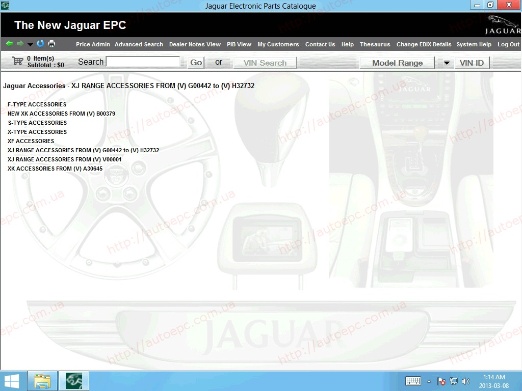 <b>Jaguar JEPC (no VIN) [01/2018]</b><br>Parts catalog for Jaguar