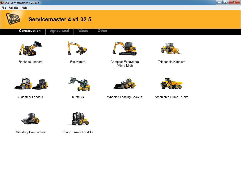 <b>JCB ServiceMaster 4 (1.77) [01/2019]</b><br>Diagnostic software for JCB constructio, agricultural machines and engines