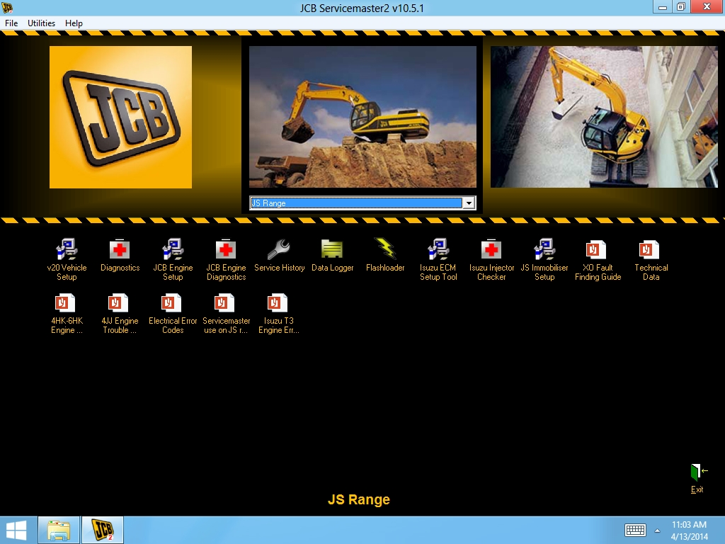 <b>JCB ServiceMaster 4 (20.7.3) [08/2020]</b><br>Diagnostic software for JCB constructio, agricultural machines and engines