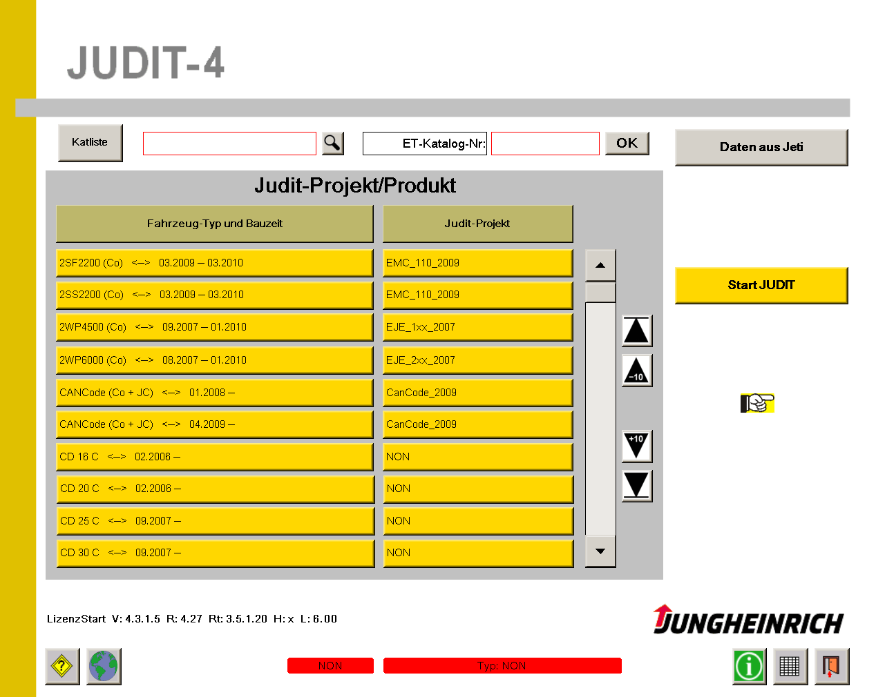 <b>Jungheinrich JUDIT-4 - Diagnostic software (v4.35)</b><br>JETI, Jungheinrich Judit4 diagnostic software