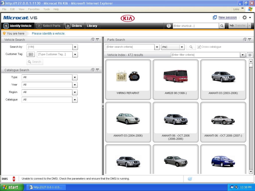 <b>KIA MCAT V6 [08/2018] <sup><font color=red>new interface</font></sup></b><br>Parts catalogue for all KIA vehicles. VMWare.
