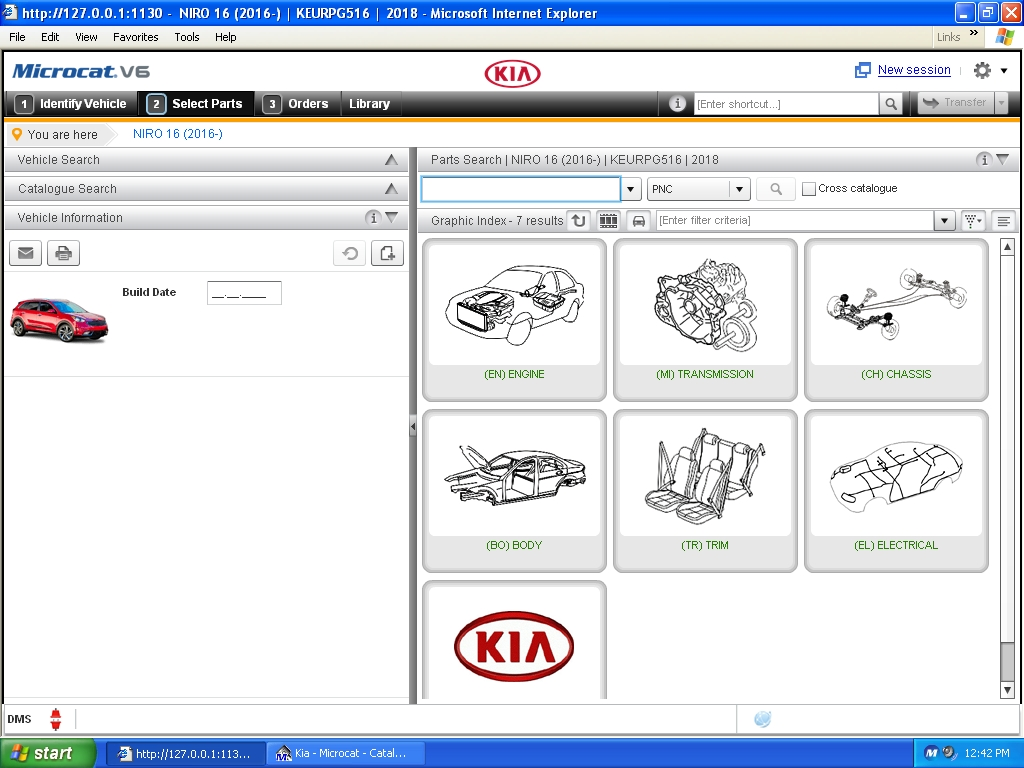 <b>KIA MCAT V6 [07/2019] <sup><font color=red>new interface</font></sup></b><br>Parts catalogue for all KIA vehicles. VMWare.