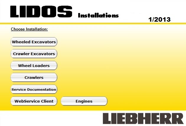 <b>Liebherr 2018 Parts Catalog & Service Information</b><br>Lidos, electronic parts catalog for Liebherr machines and service information system