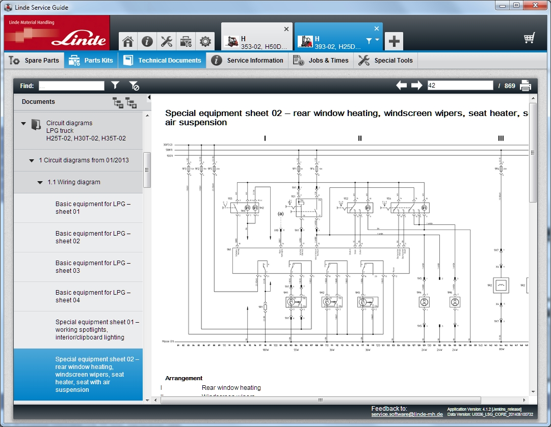 <b>Linde Service Guide LSG 5.2.2 U0130 [12/2018]</b><br>Parts catalog, service manuals, wiring and hydraulic diagrams, service bulletins