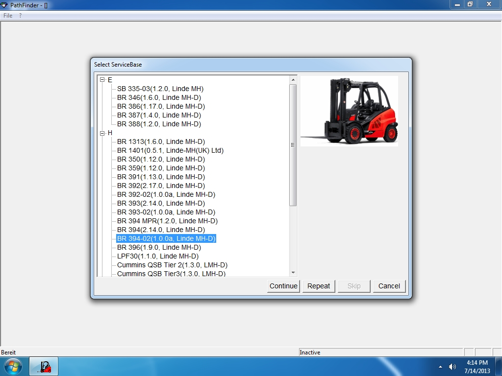<b>Linde Pathfinder / v3.6.2.11 [01/2020]</b><br>Program for diagnosing Linde trucks and forklifts
