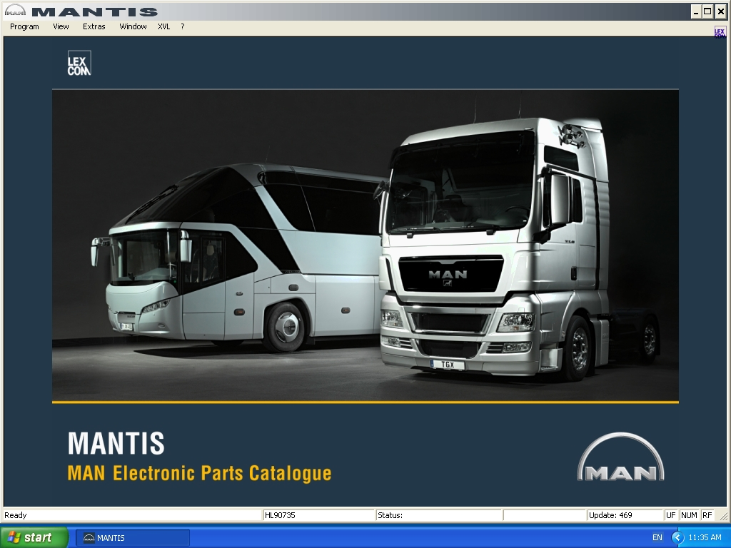 <b>Man Mantis 2014 / v509</b><br>Parts catalog for MAN trucks / buses / engines, data update version - 509