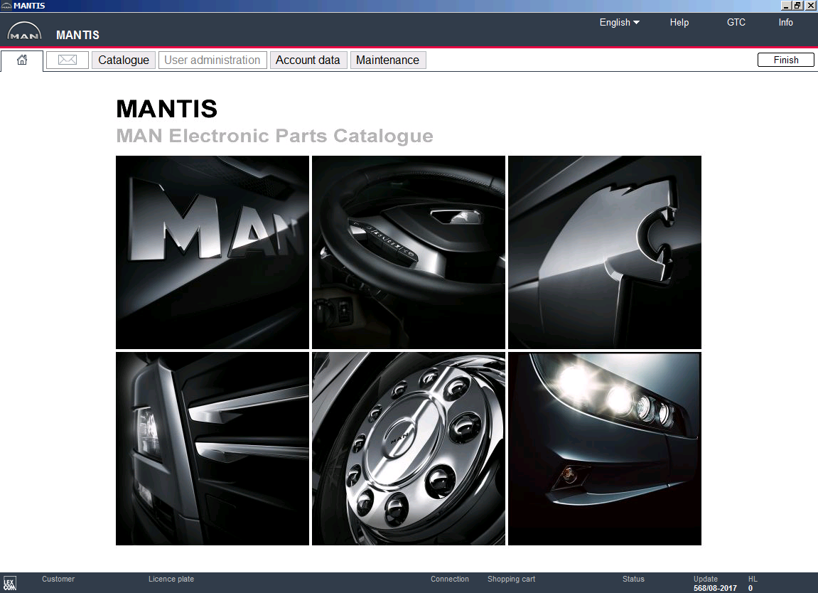 <b>Man Mantis v572 [10/2017] <sup><font color=#C83B00>NEW</font></sup></b><br>Parts catalog for MAN trucks / buses / engines, data update version - 572