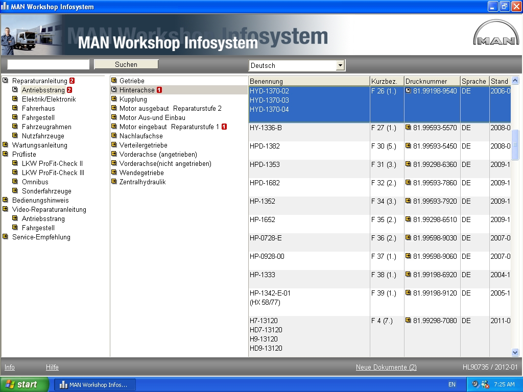 <b>MANWIS 2012</b><br>Service, repair information and wirings for MAN vehicles
