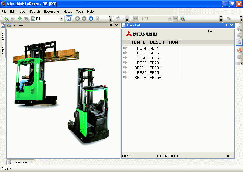 <b>Mitsubishi Warehouse Equipment [01/2016]</b><br>Parts catalog for Mitsubishi forklift trucks