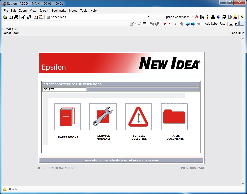 <b>New Idea [05/2018]</b><br>Epsilon, parts catalog and service manuals for New Idea equipment