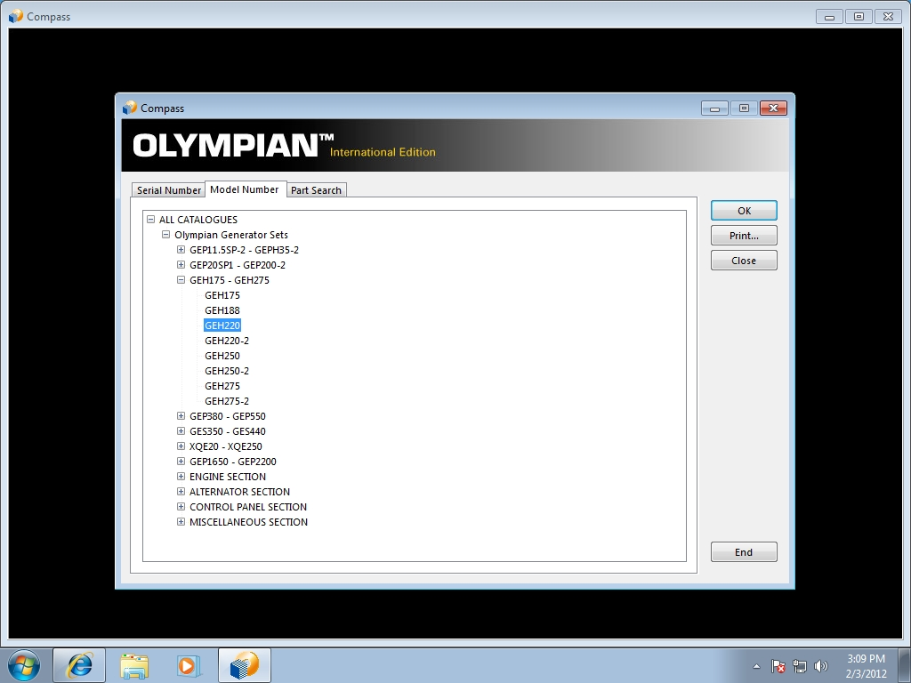 <b>Olympian</b><br>Parts catalog for Olympian power generator sets
