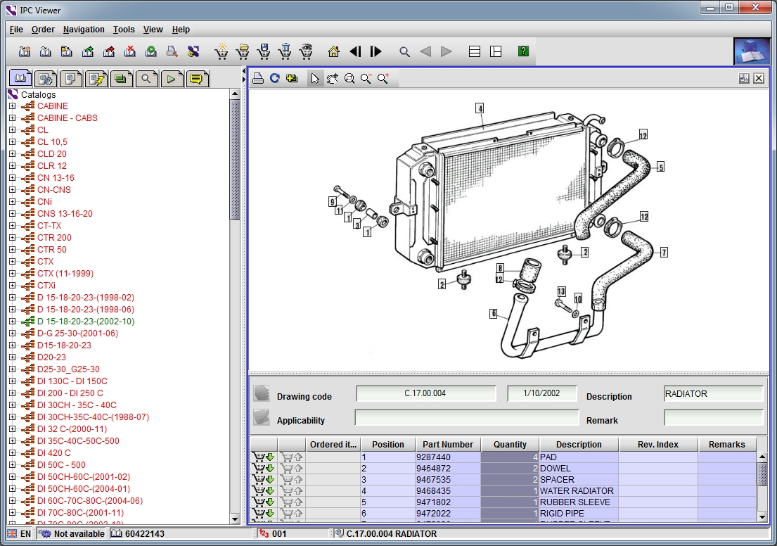 <b>OM Pimespo</b><br>Parts catalog for OM-Pimespo forklifts