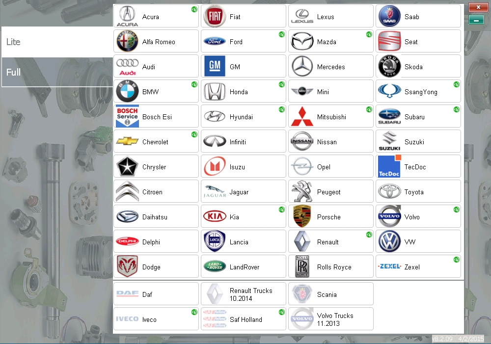 <b>REMOTE PARTS CATALOGS FOR CARS - 3 MONTHS ACCESS</b><br>Parts catalogs for most car brands