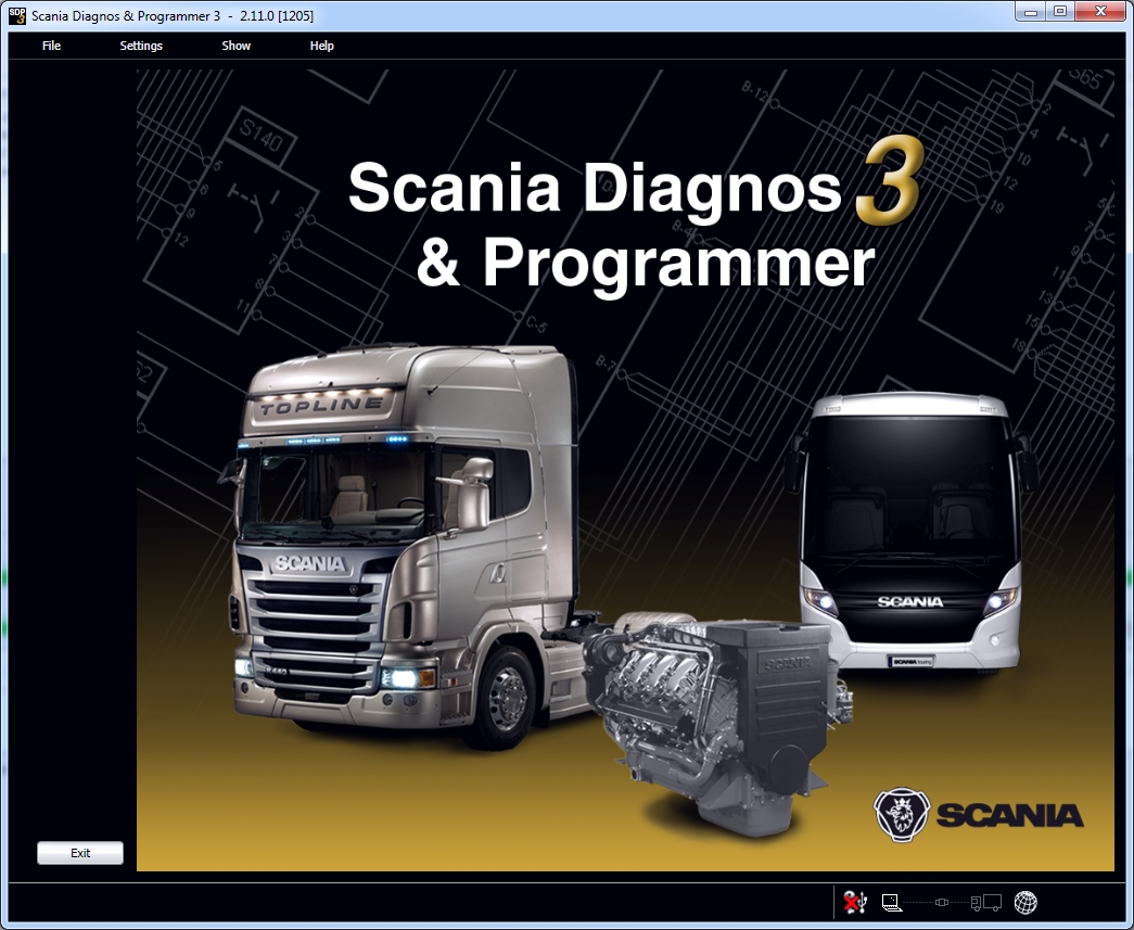 <b>Scania SDP3 2.31</b><br>Diagnostic software for Scania trucks