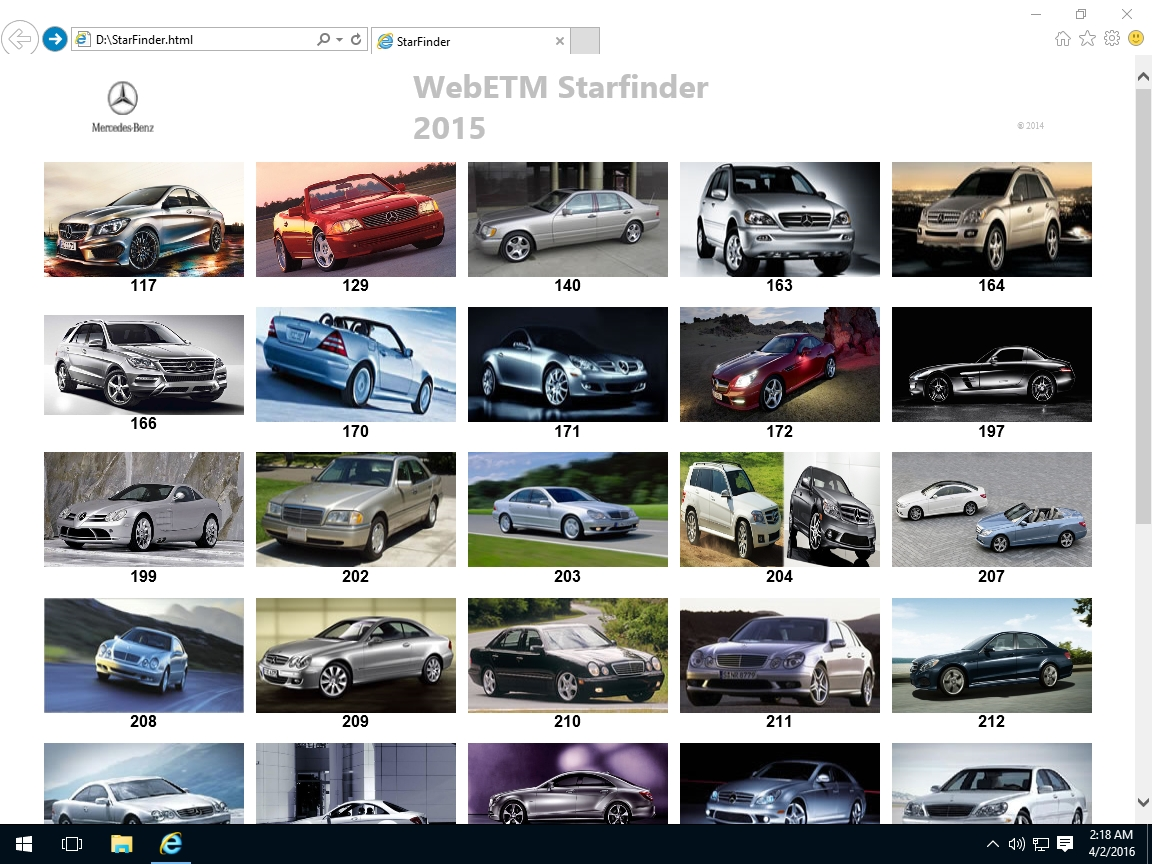 <b>Mercedes Starfinder 2015</b><br>Components location library for Mercedes cars, Smart and Sprinter.