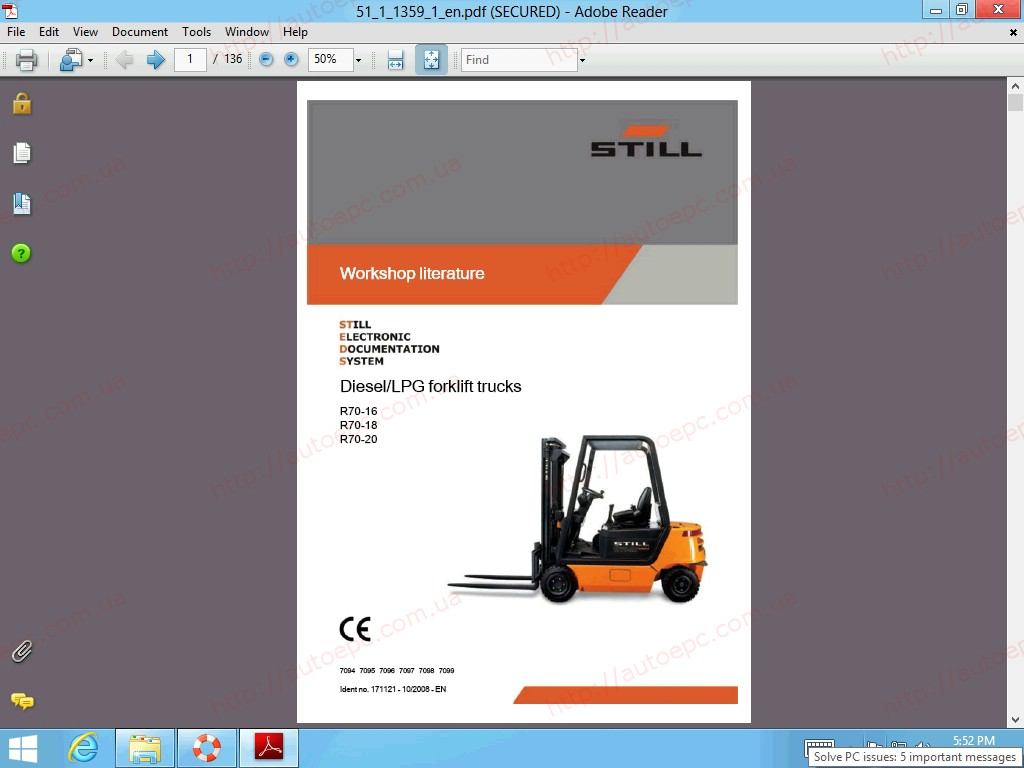 <b>STILL STEDS 8.18 R8 PARTS & REPAIR 2019</b><br>Version D8.18 (Release 3). Lift trucks, fork lifts, original spare parts, workshop manual, diagnosis, user manual and etc.