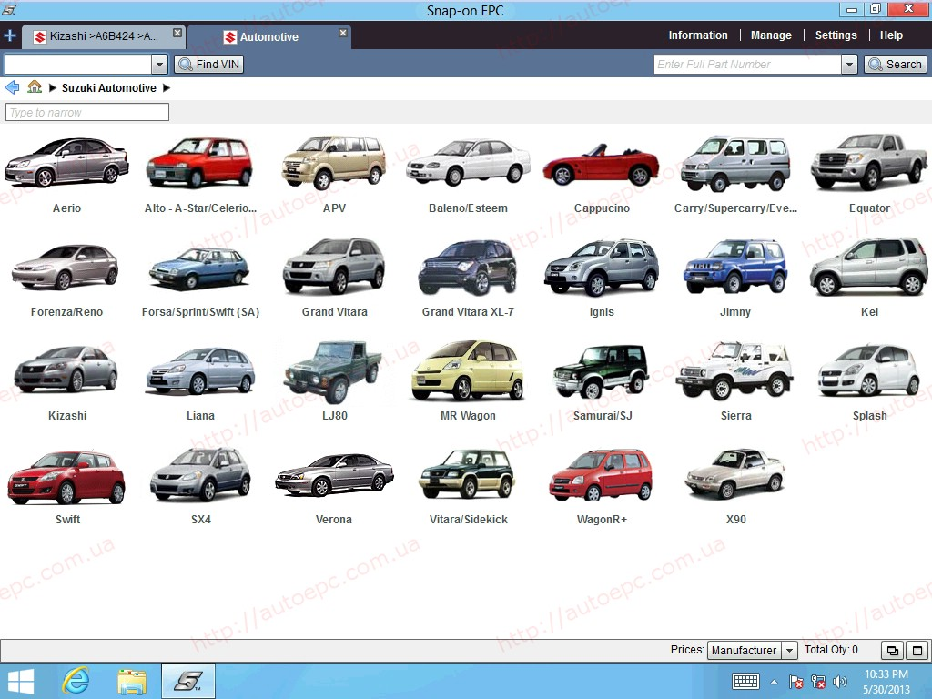 <b>Suzuki Worldwide EPC5 2019</b><br>Parts catalog for all Suzuki models of all markets except Japanese