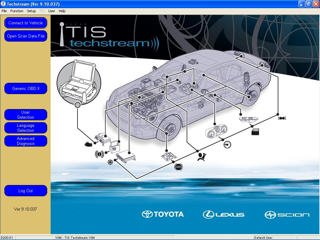 <b>Toyota TIS Techstream 10.30.029 + Flash Reprogramming DVD</b><br>Diagnostic software for  Toyota / Lexus / Scion cars