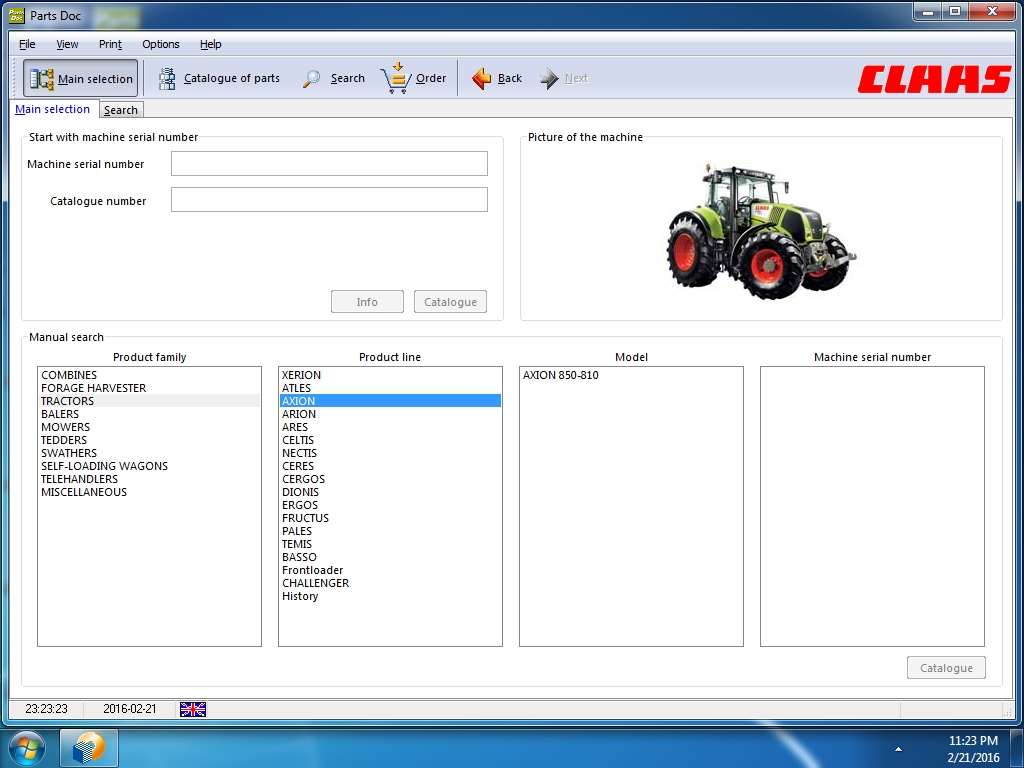 <b>Claas Parts Doc [03/2021]</b><br>Spare parts catalog for CLAAS Combines, Claas Harvest technics and etc.